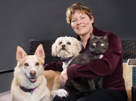 Pet author Arden Moore poses for a photo.