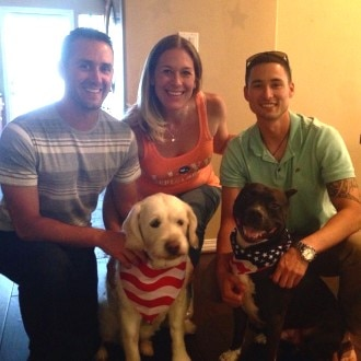 Dogs on Deployment members reunite.