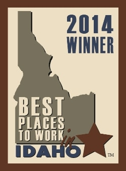 The badge awarded to Pets Best Insurance Services, LLC for being a 2014 best places to work in Idaho winner.