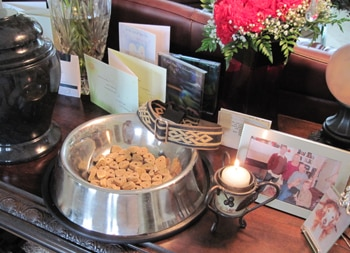 When kids are sad because a pet died, a Tribute Table like this one might help.