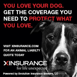Liability dog bite animal insurance banner