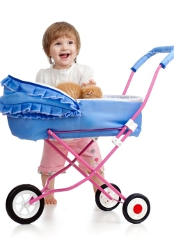 Teach your indoor cat to ride in a stroller for safe outdoor exploring.