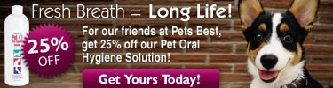 25% Pets Best Discount on Oxyfresh Oral Hygiene Solution!
