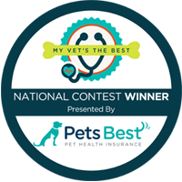 Winner of the Pets Best Pet Insurance's Nationwide My Vet's the Best Contest